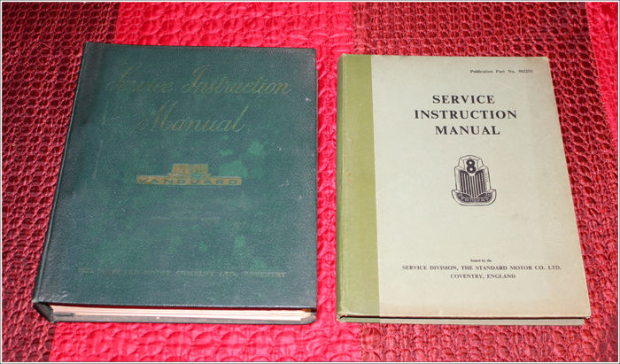 STANDARD VANGUARD + Standard 8 - 2 x Service Instruction Manual / Owner's manual