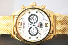 "Nautec No Limit Addendum ""Gold White"" -- Men's wristwatch"