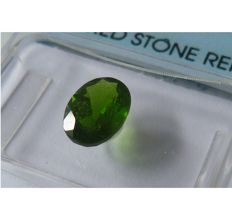 Duo - Chrome diopside - 1 yellowish green of 1.15 ct and 1 dark green of 0.38 ct (1.53 ct in total).