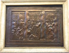 "Copper plaque ""The Healing of the Lame Man"", Italy, 19th century"