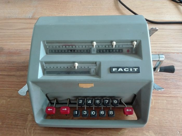 Facit model C1-13 rekenmachine, ca.1955