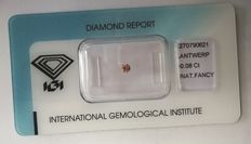 Natural Fancy Brownish Pink Diamond 0.08ct  with IGI cert *** no minimum price***
