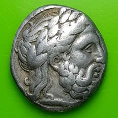 Greek Antiquity – Macedonian kingdom. Philip II, AR Tetradrachm, 359 – 336 BC. Amphipolis