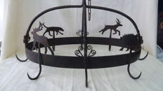 Large cast iron game hanger/crown