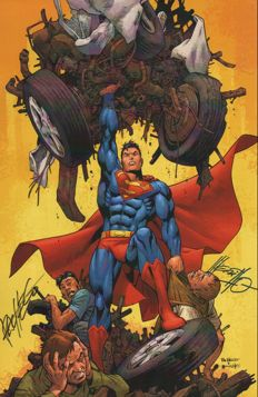 Signed Print of Superman #654 Cover Art By Pacheco & Merino Wizard Con - (2006)