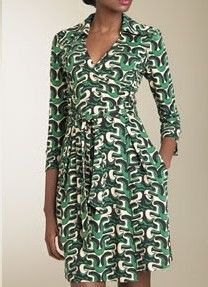 Diane von Furstenberg dress - Collection: Petite Gaudi's Wave Moss