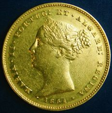 Portugal – 5.000 Reis in Gold – 1851 – D. Maria II – Lisbon