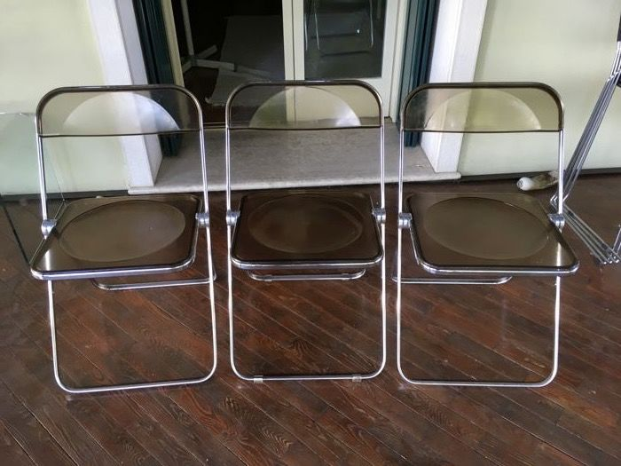 Giancarlo Piretti for A. Castelli – Set of 3 PLIA 'Folding Chairs'