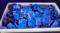 Large lot of blue tint Indonesian Raw Amber - 1450 gm