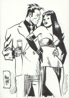 Bernet, Jordi - Original drawing - Torpedo & Donna