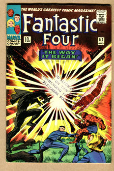 Marvel Comics - Fantastic Four #53 - Origin Of Black Panther / 1st Appearance Of Ulysses Klaw - (1966)