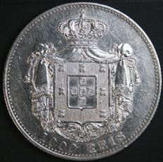 Portugal – 1,000 Réis in Silver – Carlos I – 1899 – Lisbon – Extremely Fine