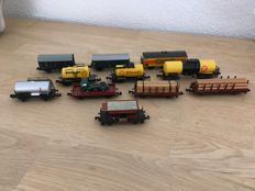 Minitrix/Fleischmann/Roco N - 11 various goods wagons of the DB
