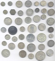 World – Lot with 43 coins 1875/1971 – silver