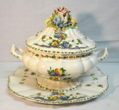 Italian Faience tureen, nº1; Marked - BASSANO;