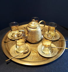 Ottoman tea set for five people – Eastern Turkey – Second half of 20th century