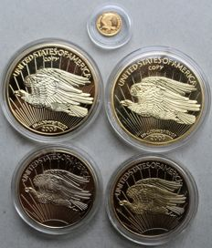 """Gold Medal """"25 Years of the Gold Eagle"""" + 4 gold medals"""