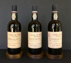 1944 & 1951 & 1963 Colheita Port Real Companhia Vinicola do Norte de Portugal - bottled in 1972 - 3 bottles