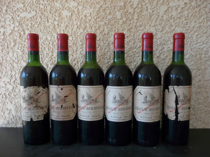 1959 Chateau Beychevelle, Saint-Julien Grand Cru Classé - 6 bottles
