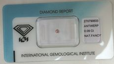 Natural Fancy Pink Diamond 0.09 ct  with IGI cert