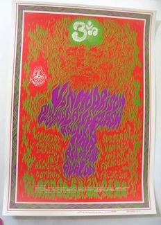 "Van Morrison  Family Dog Poster ""Ohm"" San Francisco by Wes Wilson 1967"