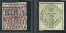 Hannover 1856/1863 - Michel 8a and 20 with expertise