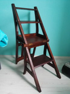 Library chair/ladder - Wood, 20th century
