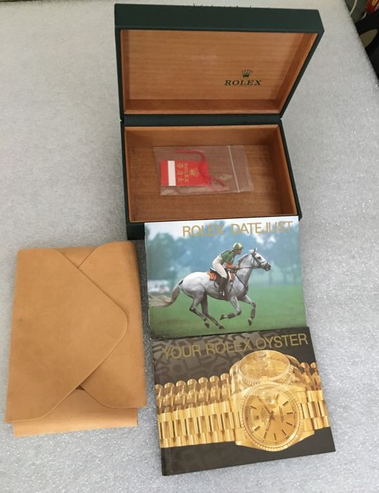 Rolex original box and Operating instructions--80's / 90's--no reserve price