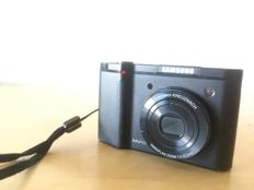 "Samsung NV NV10 10.1MP 1/1.8"" CCD black digital camera"