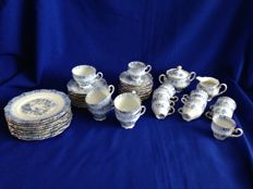 Seltmann Weiden Bavaria 'Theresia' blue coffee set with gold coloured rim