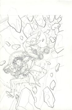 Original Art Cover By Pasqual Ferry - Marvel Comics - Disney Kingdoms - Big Thunder Mountain Railroad #2 - (2015)
