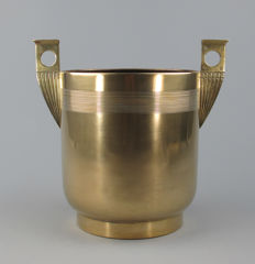Art Nouveau brass wine cooler