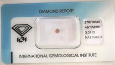 Natural Fancy Intense Brownish Pink Diamond 0.09 ct  with IGI cert *** no minimum price***