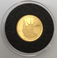 Cook Islands – 20 Dollars 1995 '500 years America' – 1/25 oz Gold