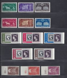 Luxembourg 1950/1957 – Selection of stamps – Michel 478/483, 490/494  en 572/574
