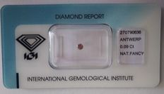Natural Fancy Deep Grey - Pink Diamond 0.09 ct  with IGI cert *** no minimum price***