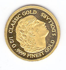 "Cook Islands – 5 Dollar 2012 ""Classic Gold"" – gold"