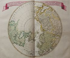 World, North Pole; I Tirion - Nieuwe Kaart van de Noord Pool (...) - 1753