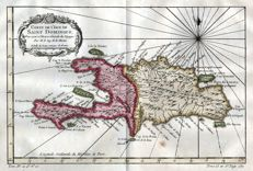 Haiti / Dominican Republic; Bellin/Prevost - Carte de l'Isle de Saint Domingue - 1754