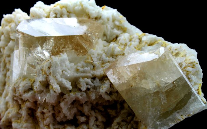 Undamaged & Complete Terminated Natural Sherry Topaz Crystals with Albite Specimen - 138 x 80 x 50 mm - 1113 gm