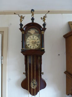 Frisian tail clocks, so-called office clock – mahogany – 1960s