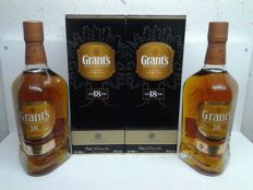 2 bottles - Grant's 18 years old