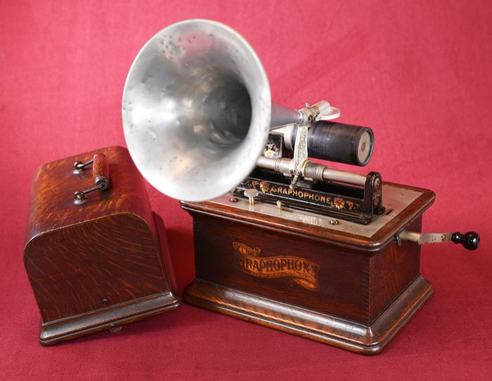 Edison Phonograph van omstreeks 1905. Made in the USA -