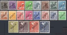 Germany Berlin 1948/1948 - Lot of 3 series of stamps - Michael no. 1 to 20, 35 to 41, 61 and 62.