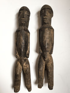 Old Bateba Divination couple - LOBI - Burkina Faso