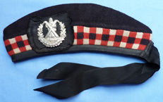 Excellent original c.WW2 Scottish Cameron Highlanders Glengarry Cap