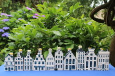 Lot with ten KLM houses (BOLS) Delft blue
