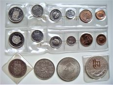 Netherland and Netherlands Antilles – Year packs 1975 (2 pieces) and 2½ guilder 1972 + 2½ guilder 1960 and 10 guilder 1970 and 1978