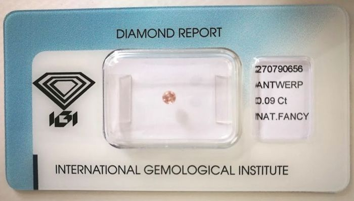 Natural Fancy Brownish Pink Diamond 0.09 ct  with IGI cert *** no minimum price***