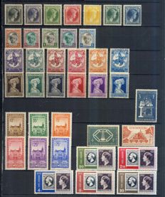 Luxembourg 1929/1952 - collection of complete sets